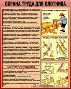 Плакаты по охране труда - Изображение #4, Объявление #1018177