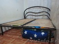 Продам двуспальную кровать, железный каркас (матрац новый в упаковке) 35000т